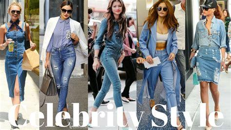 celebrity jeans 2018 celebrities rocking denim spring 2018 fashion trends