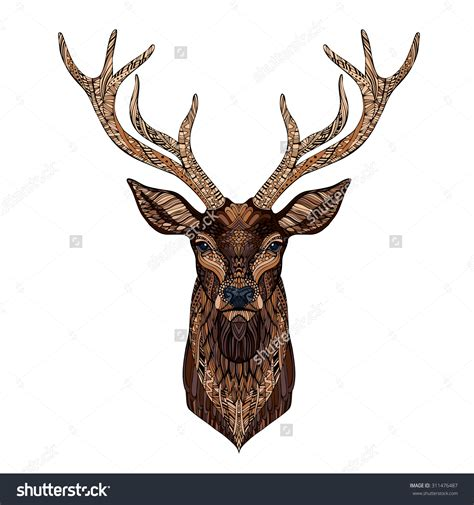 deer head tattoo designs zentangle search
