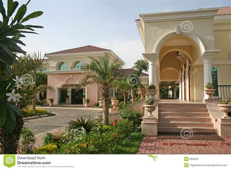 royal homes upmarket rich royal home architecture stock image