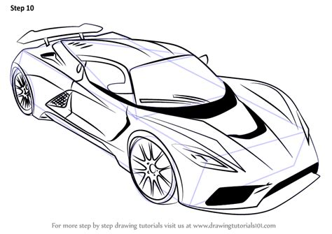 how to draw a sports car step by step drawingforall net learn how to draw venom f5 sports cars step by step