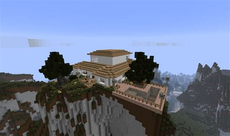 house mountain clean modern mountain house minecraft project