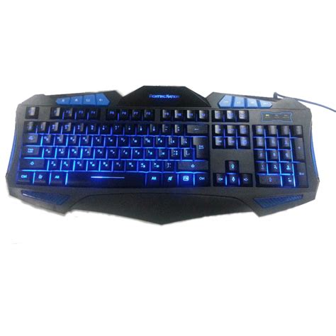 Keyboard Pc Led russian backlit illuminate gaming keyboard fighting nation russia layout letter computer wired