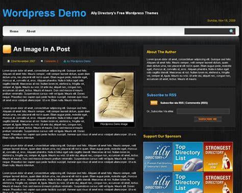 themes in the black pearl black pearl wordpress theme free wordpress themes ally