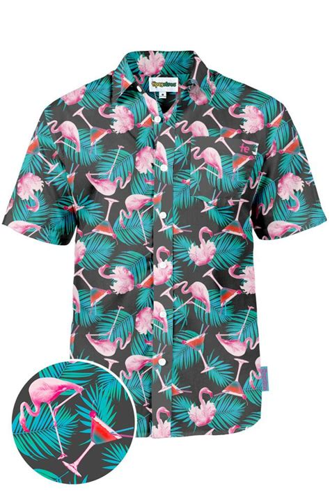 martini hawaiian the martini and flamingo hawaiian shirt tipsy elves