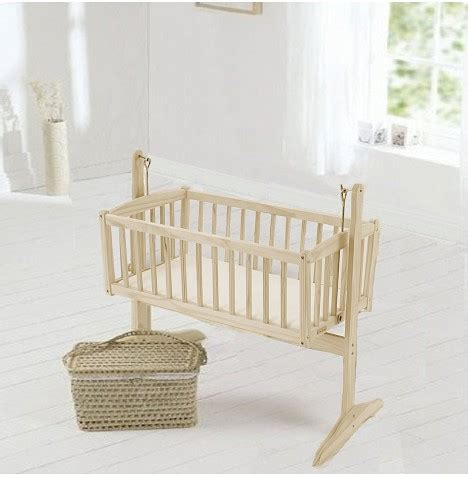 Wooden Rocking Crib by Clair De Lune Wood Florence Rocking Cradle Crib