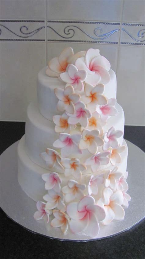Plumeria Frangipani Wedding Cake   CakeCentral.com