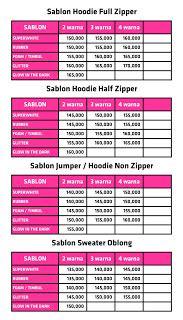 Sablon Sweater Manual Harga Ekonomis sablon satuan kaos polo sweater hoodie sablon hoodie sweater satuan