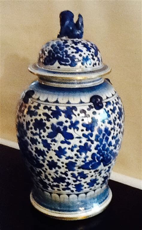China Decorative Items by Blue White Temple Jar Antique Decorative Items