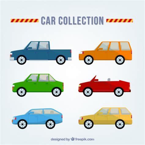 different car models selection of different car models in flat design vector