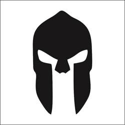 Spartan Mask Template by Spartan Helmet Logo Search