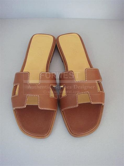 Authentic Hermes Oran Sandal Gold 37 hermes oran h sandals gold box leather shoes new 36 5 authentic 895 0000