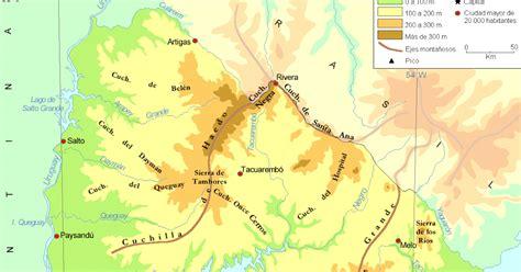 imagenes satelital del uruguay geografia mapa fisico del uruguay