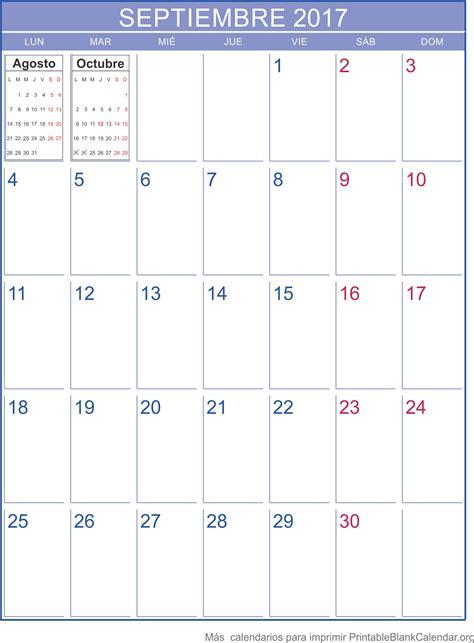 Calendario Septiembre 2017 Septiembre 2017 Calendario Calendarios Para Imprimir