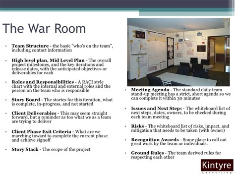War Room Project Management by Best Practices When Moving To Agile Project Management