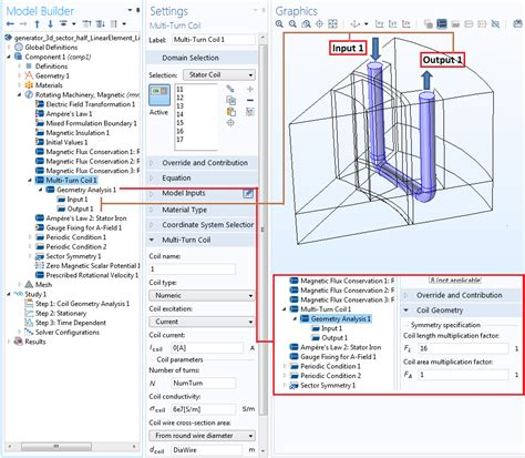 how to make a in conditions guidelines for modeling rotating machines in 3d comsol