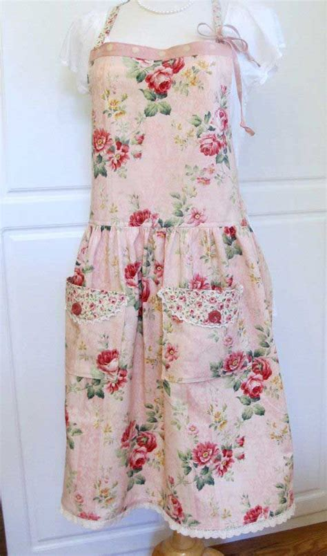 70 best shabby chic aprons and kitchen linens images on
