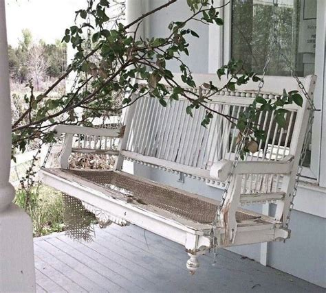 old porch swing detailed old white porch swing porches patios decks