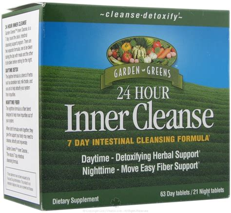 24 Hr Detox Cleanse by Buy Garden Greens Inner Cleanse 24 Hour 7 Day Intestinal