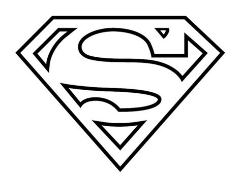 drawing of superman symbol drawing library