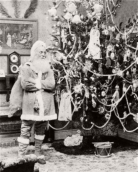 vintage father christmas in the victorian era 19th