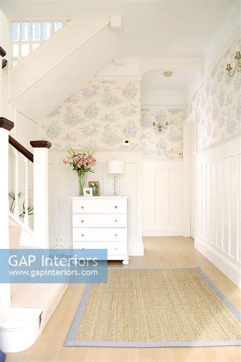 Gap Interiors Classic Hallway With Wallpaper Above Dado | gap interiors classic hallway with wallpaper above dado