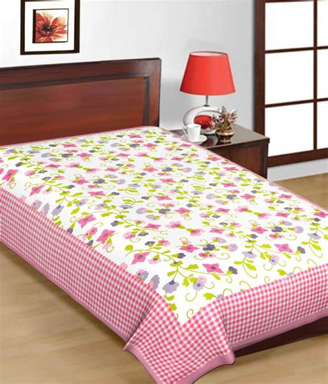 buy bed sheets uniqchoice printed cotton single bed sheet buy