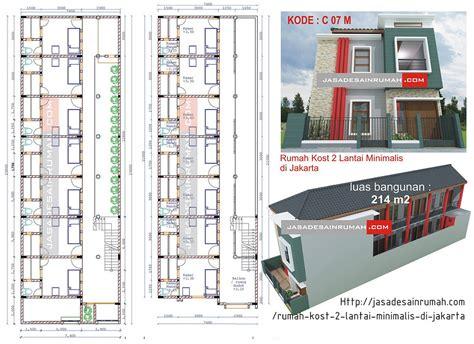 layout tempat kost rumah kost 2 lantai minimalis di jakarta jasa desain rumah