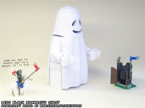 Ghost Papercraft - black monarch papercraft ghost by ninjatoespapercraft on