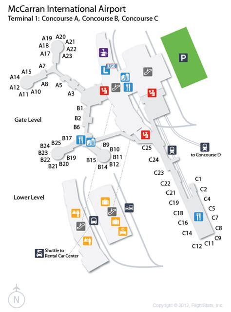 las airport diagram las mccarran international airport terminal map