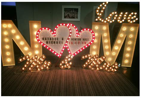 Wedding Arch Hire East by Illuminated Letter For Hire Weddings Proms