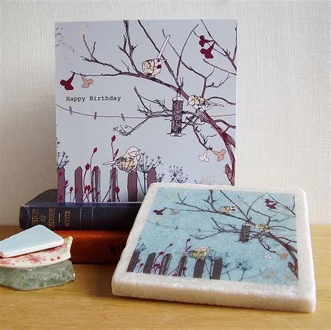 Handmade Birthday Gifts - handmade bird design birthday gift set by