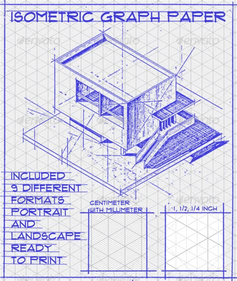 Construction Drawing Paper Isometric Graph Paper Set By Geoconta Graphicriver