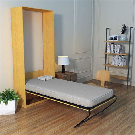 maple friss vertical single wall bed with mattress mattress size 3 5 rs 29999