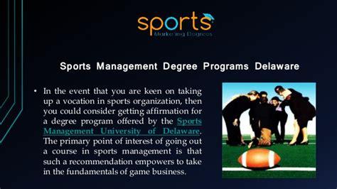 best sports management universities delaware sports management best for sports