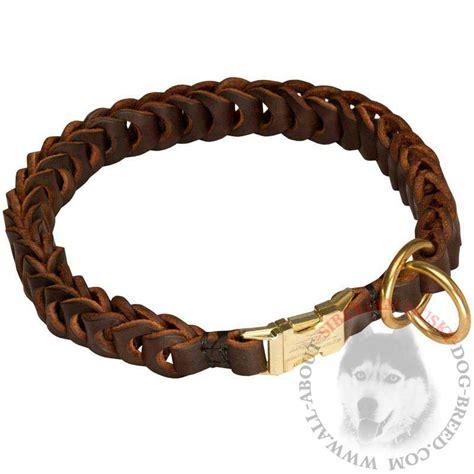 choke collar for dogs braided leather siberian husky choke collar for and behavior correction