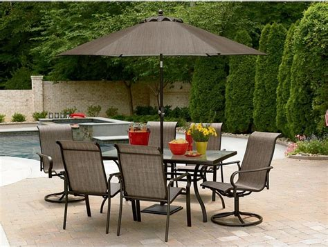 contemporary patio dining set east point seven piece outdoor dining set contemporary