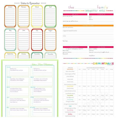 printable coupon organizer 25 must have printable organizers