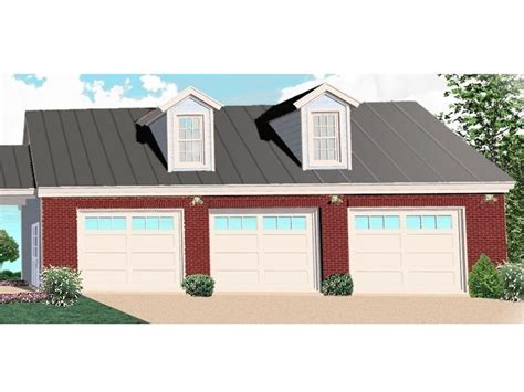 3 Door Garage Plans by Detached 3 Car Garage Plan Features Country Styling A 10