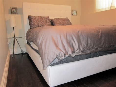 ana white diy upholstered bed diy projects