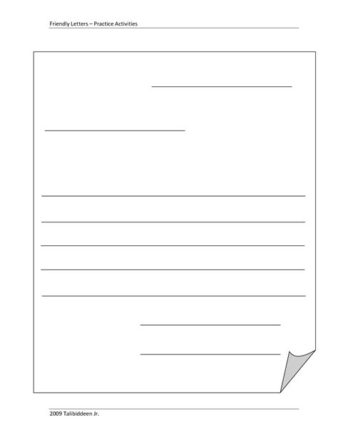 Blank Letter Template 7 best images of printable friendly letter writing