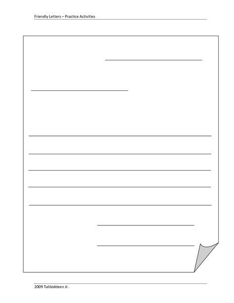 blank letter template kids blank template friendly