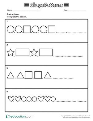 simple pattern worksheets for grade 1 1st grade patterns worksheets free printables page 2