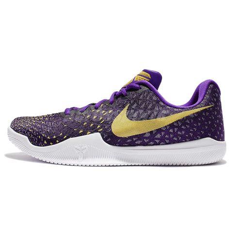 purple gold basketball shoes nike mamba instinct ep bryant purple gold
