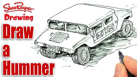 military hummer drawing how to draw army vehicles www imgkid com the image kid