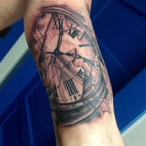 tattoo arm clock clock tattoo ideas and clock tattoo designs page 10