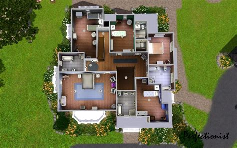 sims house floor plans 7 bedroom house plans sims 3 my perfect ranch house 7 beds 6 baths 6888 sq ft plan