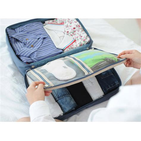 Tas Travel Bag In Bag Organizer Pakaian Polyester Abu Abu tas travel bag in bag organizer pakaian polyester blue jakartanotebook