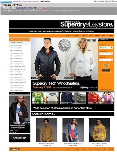 ebay online shopping uk part 2 superdrystore ebay shop the good points the