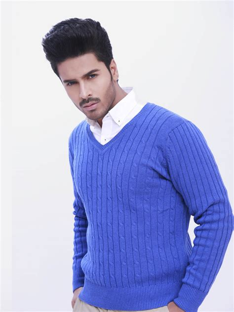 Sweater Rajut Cable Saku Series Knitted Sweater Winter Sweater royal blue knit sweater cocktail dresses 2016