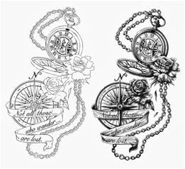 Victorian Language Of Flowers - fotos pocket compass tattoo designs